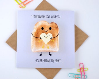 Adorable Toast Romantic Greeting Card