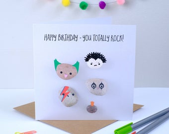 Happy Birthday You totally Rock Greeting Card