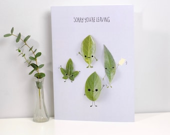 Large A4 Leaving Greeting Card