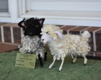 Wool Felted Sheep and Lamb