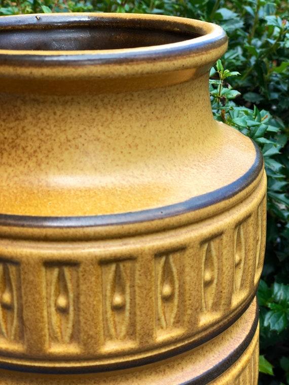 West German Fat Lava Floor Vase
