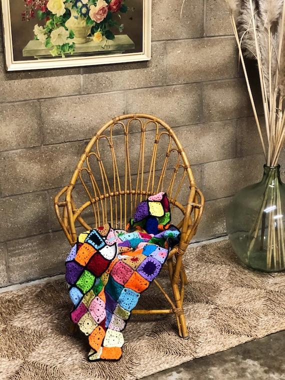 Vintage Bohemian 70s Bamboo Chair