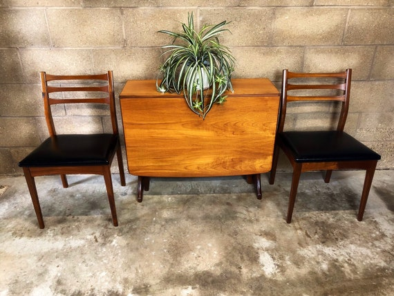 A Pair of Mid Century Meredew Danish Style Dining Chairs