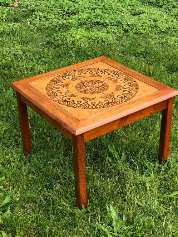Danish Tiled Top Coffee Table by Moblerfabrikken Toften