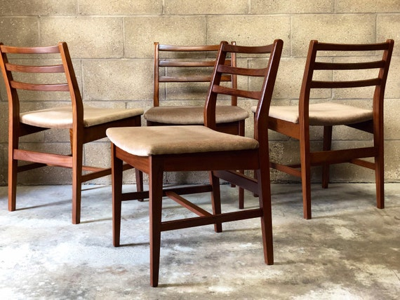 An Original Set of 4 MCM Dining Chairs
