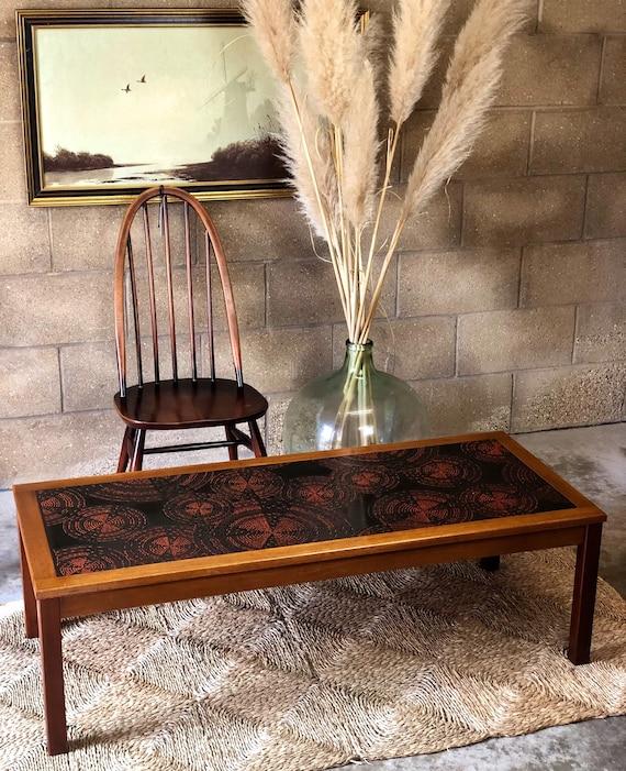 Tiled Top Ceramic Molten 'Fat Lava' Mid Century, Retro Coffee Table.