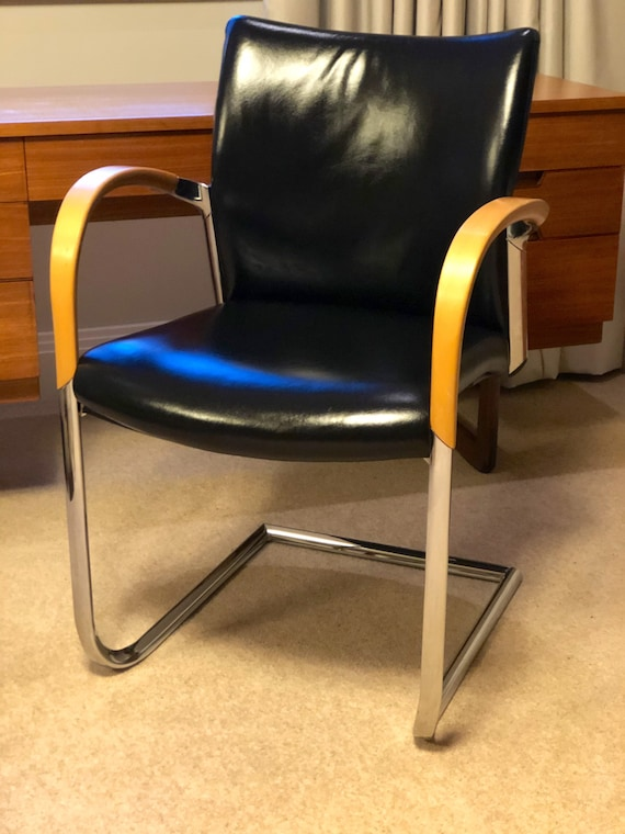 Office /Desk /MCM Style Single Cantilever Chair