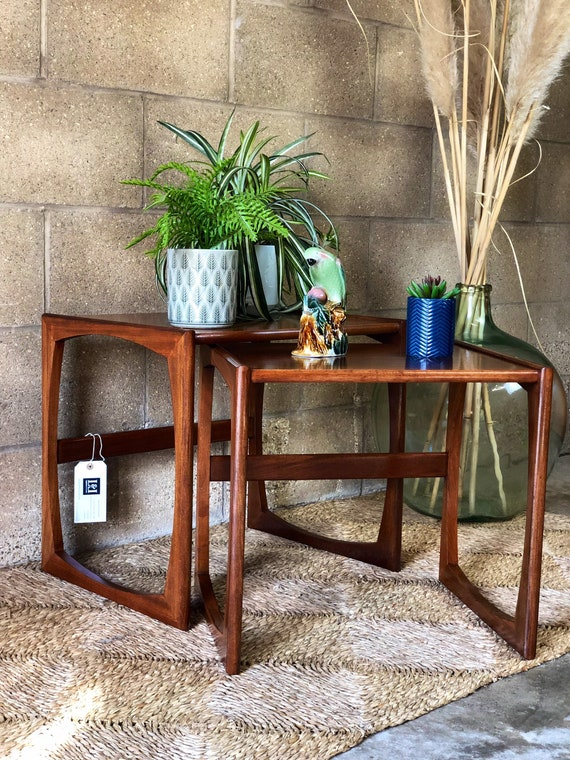 A Nest of Two G Plan Fake End Coffee Tables