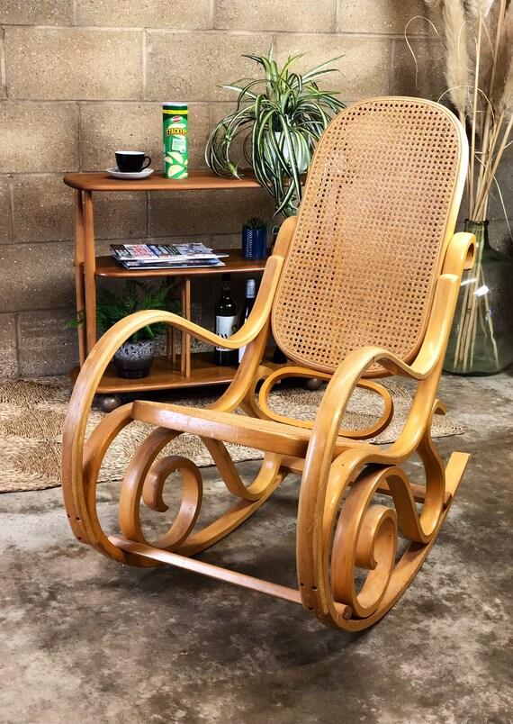 Iconic Vintage Bent Beechwood Thonet Style Rocking Chair