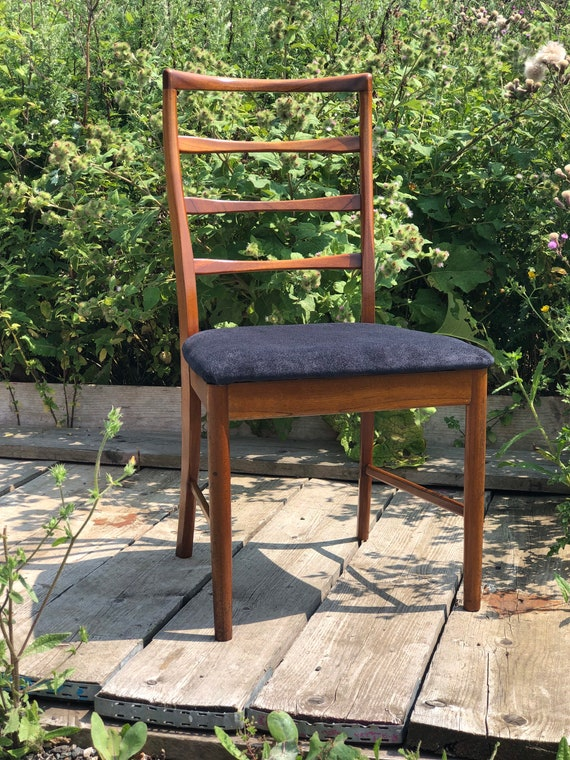 A McIntosh Teak MCM Dining Desk Chair Newly Upholstered