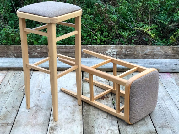 A Pair of Vintage Kitchen Stools - Commission Us !