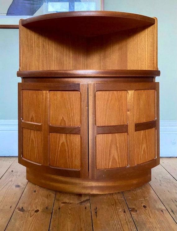 Vintage Nathan Squares Corner Cupboard/Bedside Cabinet