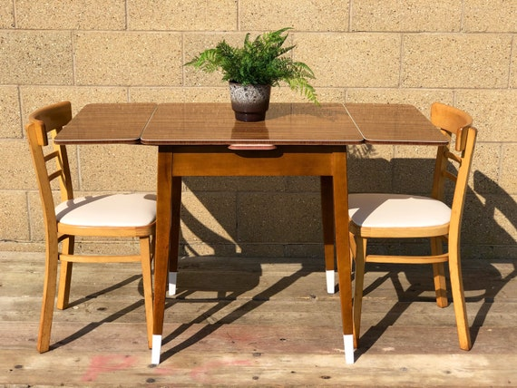 Vintage Compact 50s/60s Extending Formica Kitchen/Dining/Desk Table