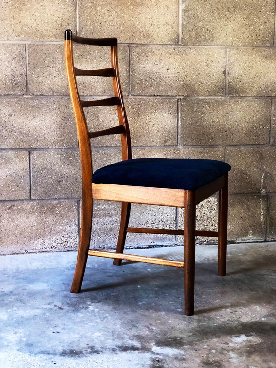 Four McIntosh MCM Dining Chairs Newly Upholstered