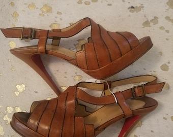 1b4ed285284c CHRISTIAN LOUBOUTIN Vintage 70s platform heels