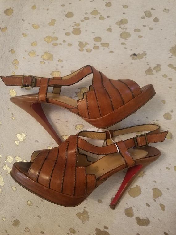 CHRISTIAN LOUBOUTIN Vintage 70s platform heels