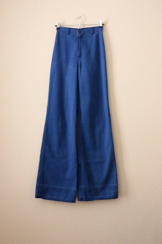 70s Ditto Jeans, 70s bell bottom jeans, pants, 70… - image 4