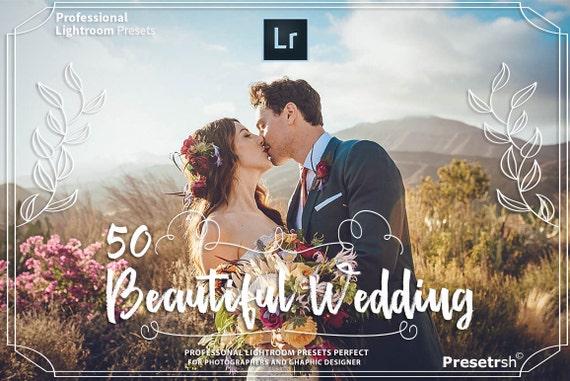 50 PRO Wedding Lightroom Presets Professional Photo Editing