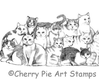 Sm Curious Cat Cat Stamps Pets Cats Mounted Rubber Stamps Animals Feline