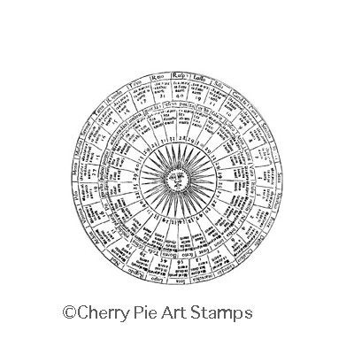 Sun Chart Esoteric Astrology Cling Rubber Stamp By Cherry Etsy