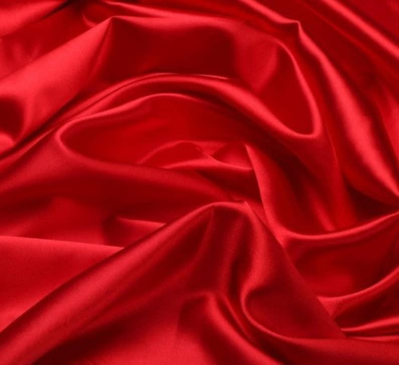 362bc998e4844 Red Silk stretch satin fabric Silk Luxury Lining Fabric   Etsy