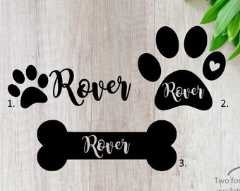 Boxer Dog Vinyl Stickers Card Craft Making for bowls doors kennels stationery