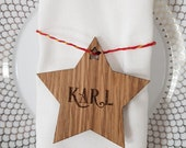 Christmas Star Place Names in Oak