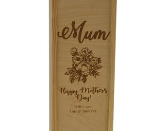 Personalised Wooden Wine Gift Box