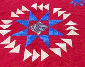 Unique Amish style Stars with Flying Geese FINISHED QUILT - Great Graphic look
