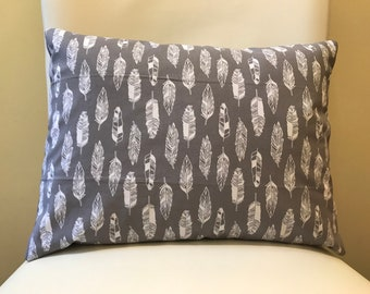 Decorative Pillow - Feather Design