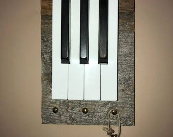 Vintage piano key holder