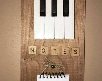 "Vintage piano keys ""notes"" holder"