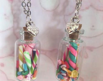Kawaii Candy Necklace in Glass Bottle