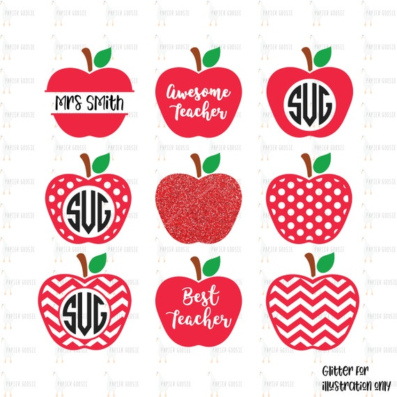 Teacher Apple Svg Apple Svg Teacher Svg Best Teacher Etsy