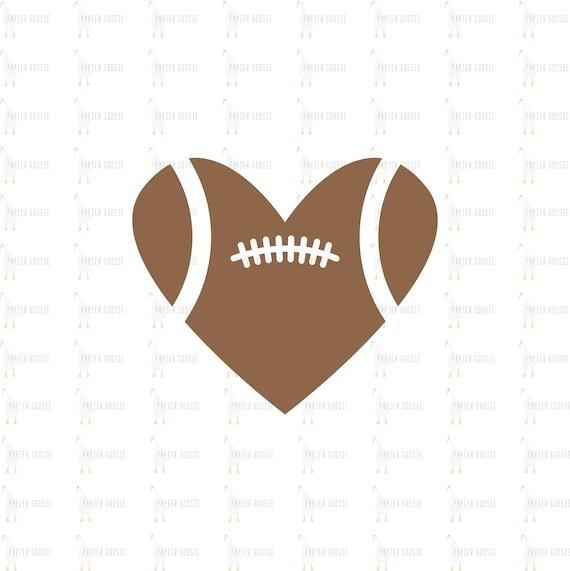 Football Heart Svg American Football Svg I Love Football Etsy