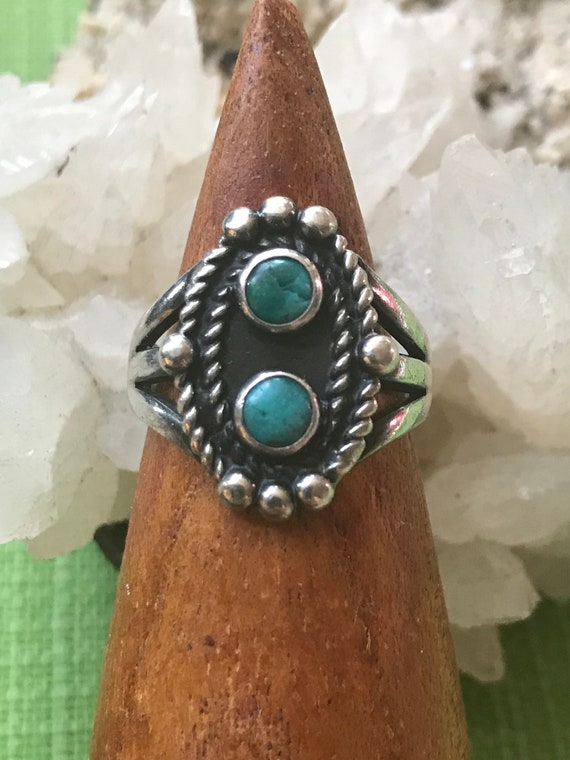 Twin Turquoise Ring