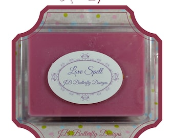 Women's Scented Soy Melts, Natural Melts, Soy Wax, Wax Tart, Scented Wax, Clamshell Melts, Passionate Kisses, Moonlight Way, Love Spells