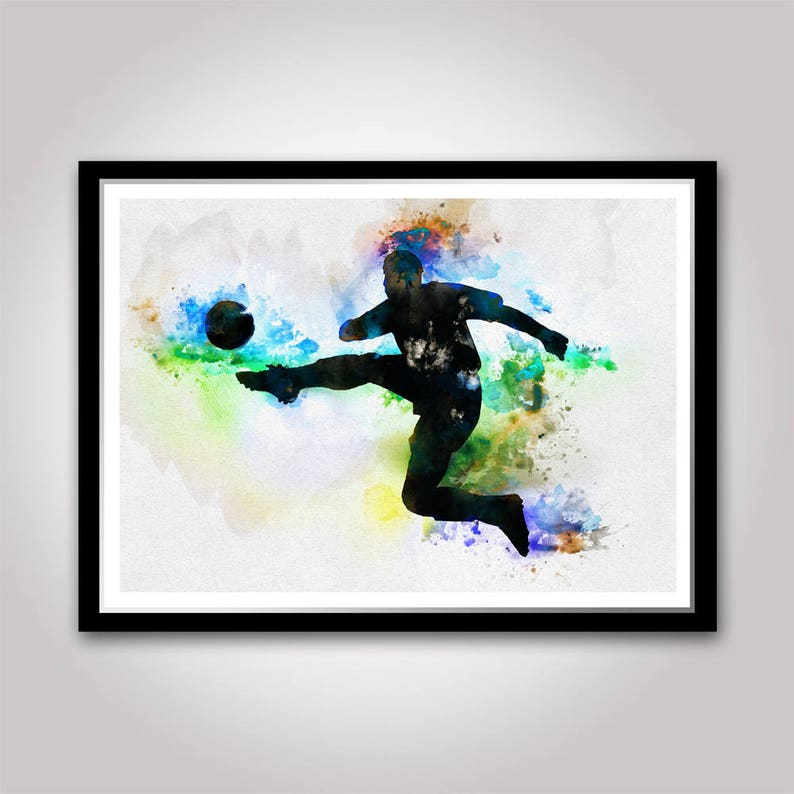 I was born to play soccer Birthday gift for boy Teen room decor Sport Wall art Boys bedroom decoration Soccer player poster