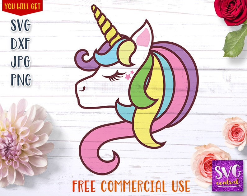 Unicorn svg, eyelash unicorn, unicorn png, printable unicorn, iron on  transfer, commercial use, cutting file, dxf, svg file for silhouette