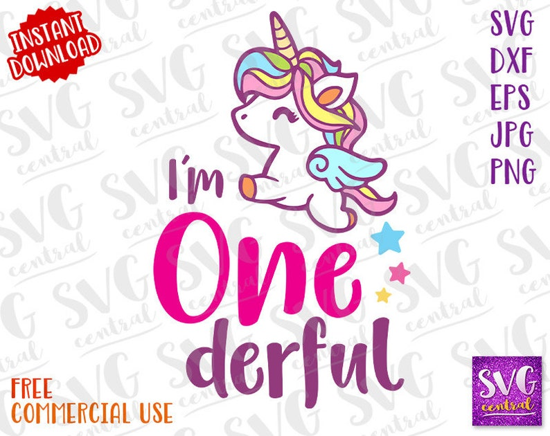 birthday t shirt Svg Birthday svg Dxf One svg 1 year Onederful unicorn svg SVG Cutting files svg file for silhouette One Iron on