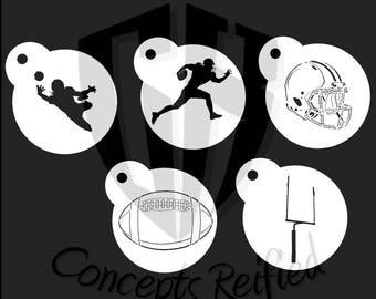 Football Stencil Pack Assortment