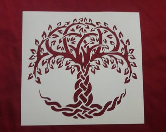 Create DIY Tree of Life Crafts and Decor Tree of Life Stencil 6x6 Reusable Stencils for Painting