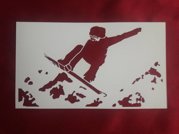 Snowboard Snow Sport Winter Mylar Airbrush Painting Wall Art Crafts Stencil 3
