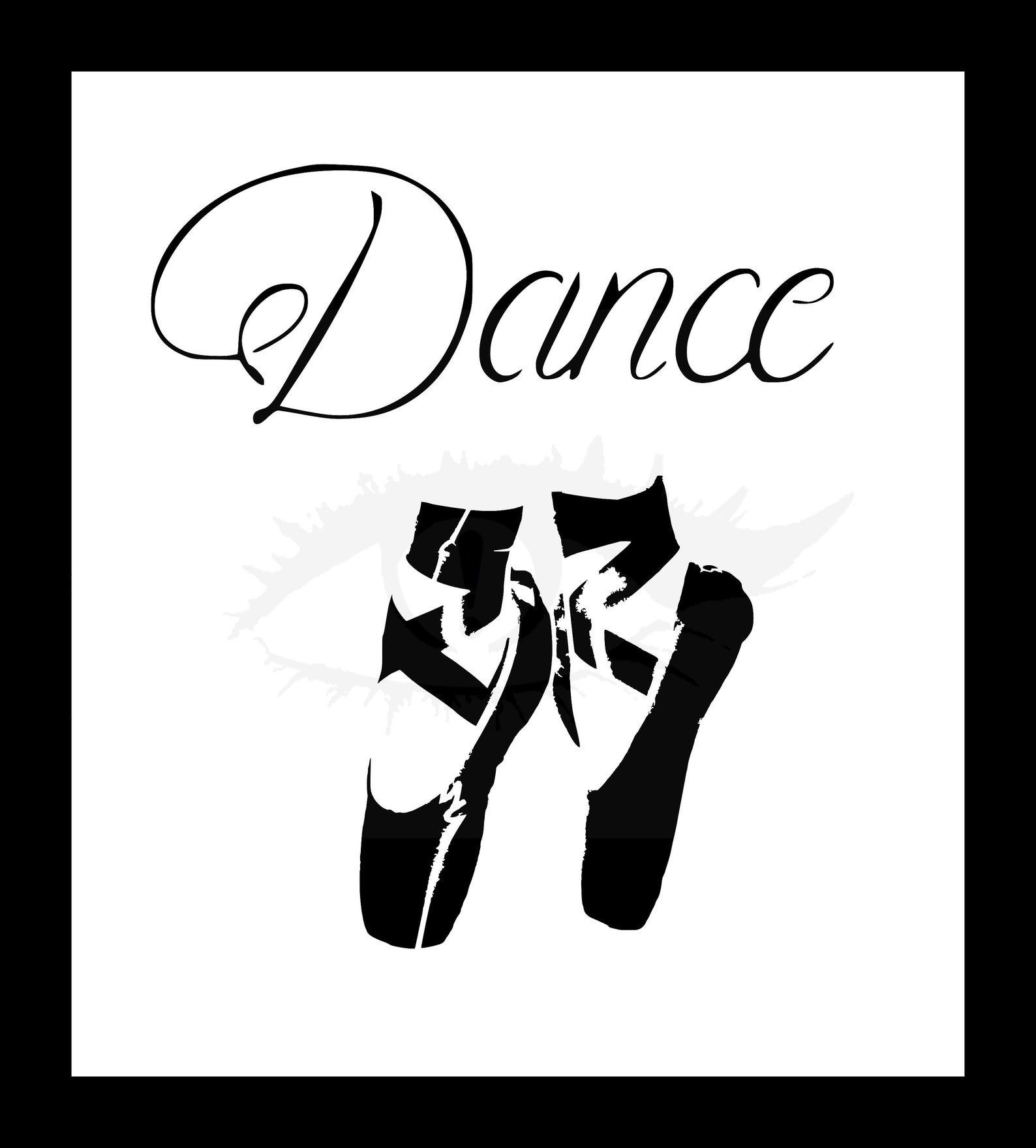dance ballet reusable stencil   multiple sizes to choose from