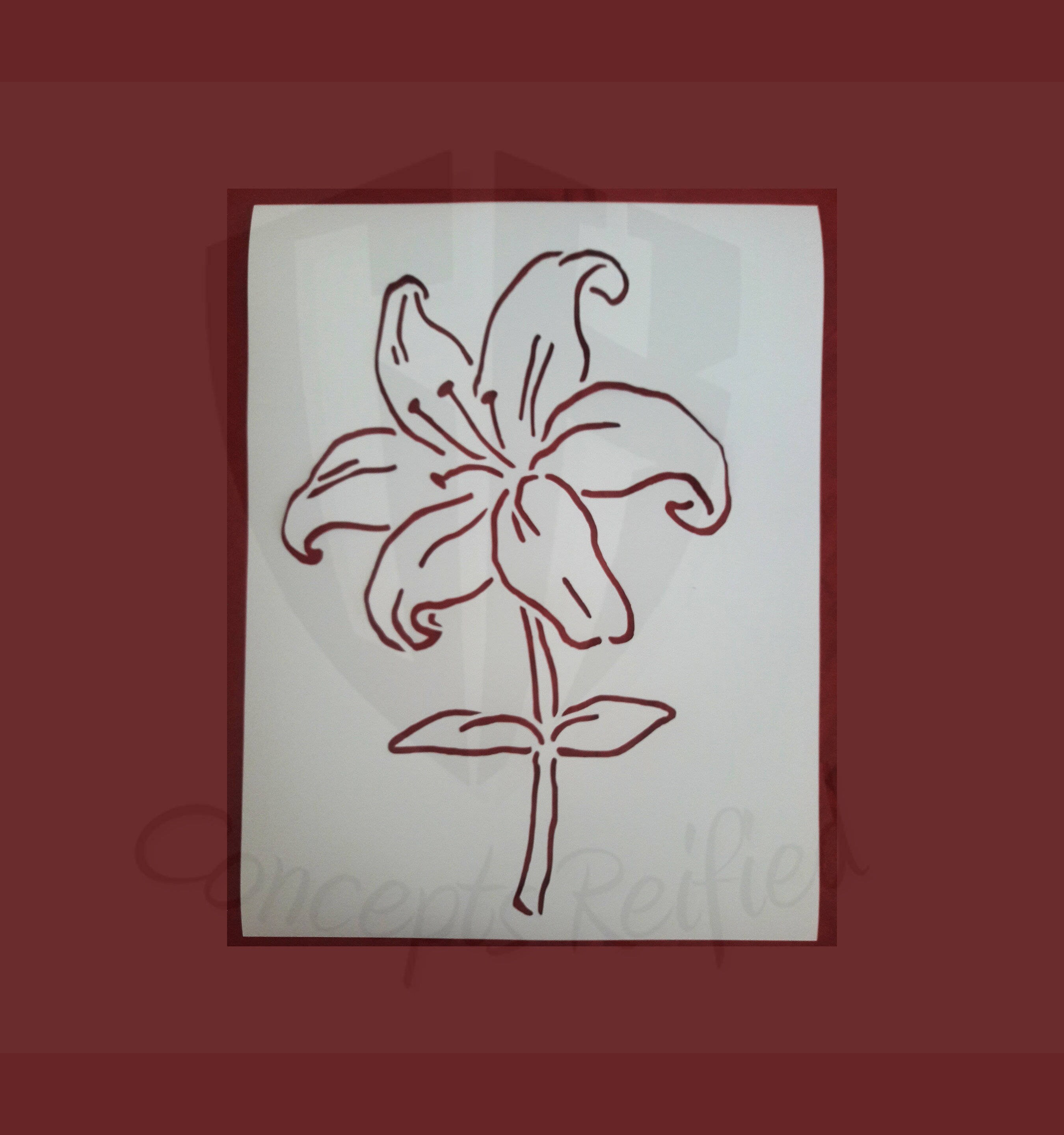 Lily Reusable Stencil Many Sizes To Choose From Etsy