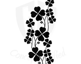 Four Leaf Clover (Hope Faith Love Luck Symbolism) Stencil - Multiple Sizes to Choose From