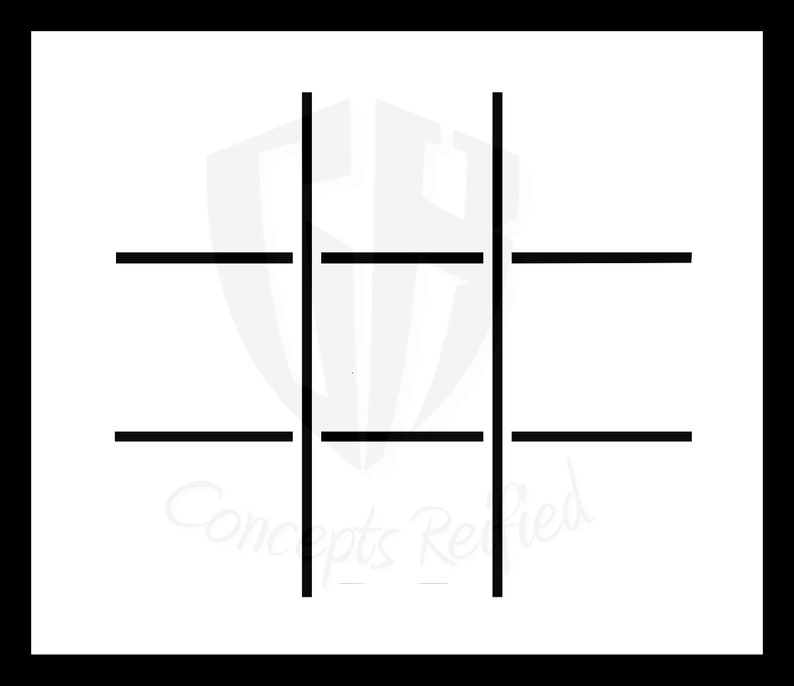 photograph about Tic Tac Toe Board Printable called Blank Tic-Tac-Toe Board Reusable Stencil - A lot of Measurements towards Acquire Against