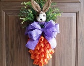 Carrot Tulip Swag, orange tulip wreath, Spring door wreaths, spring wreath, spring door, tulip wreath, orange tulips, carrot wreath,