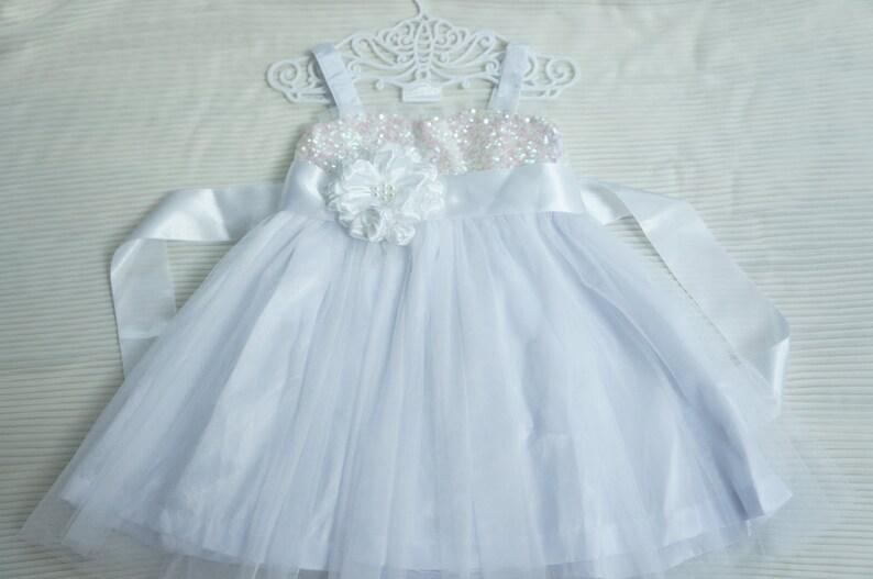 49f6a5f4164 Ready to ship Size 2T White flower girl dress Flower girls