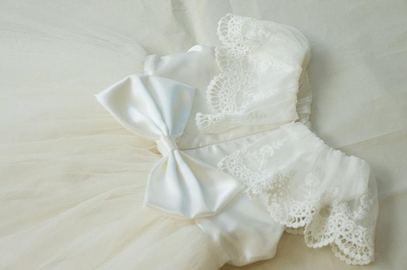 f84eaf0cc Ivory lace flower girl dress Formal girls dress Rustic girl | Etsy